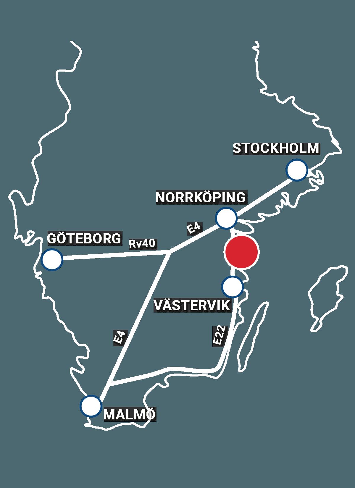 Karta: Turistföreningen i Valdemarsvik